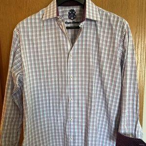 ENGLISH LAUNDRY MENS DRESS SHIRT, 17- 1/2, MINT!